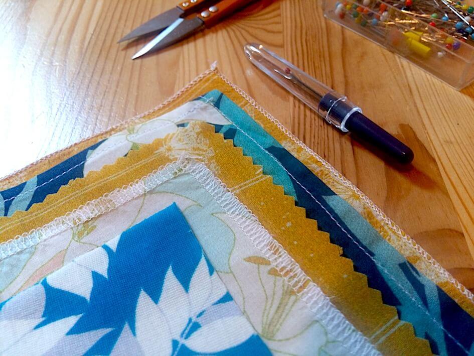 comment coudre ses mouchoirs en tissu zéro déchet
