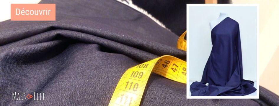 denim bio couture jeans indigo Mars-elle