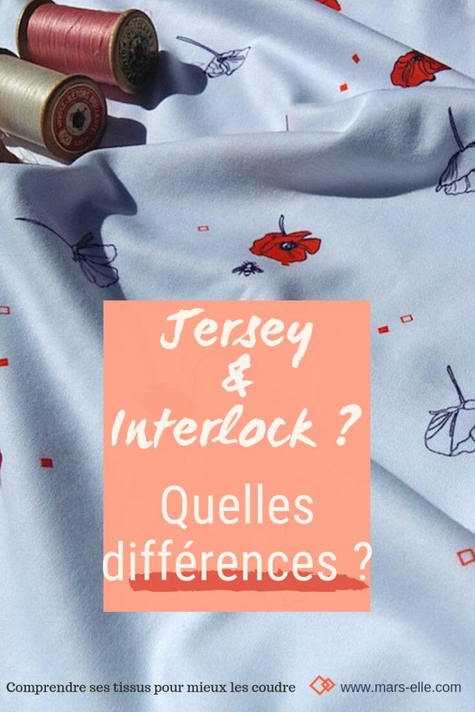 jersey interlock coton bio Motifs uniques: Mars-ELLE jersey et interlock quelles différences ? comprendre sens tissus pour ne plus se tromper