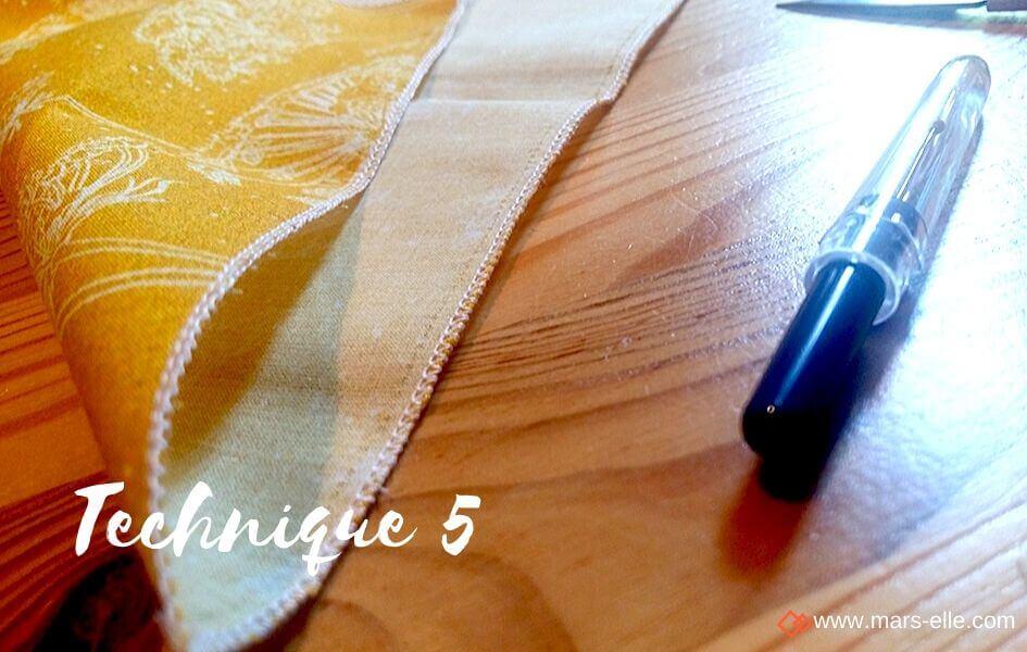 tuto couture mouchoir popeline mars-elle coton biologique