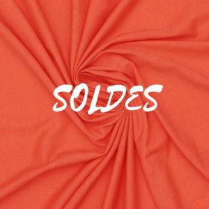 jersey bio tissu rouge corail