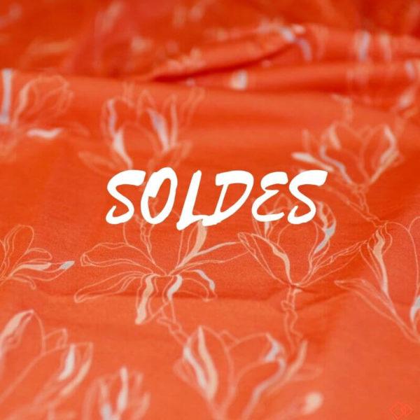jersey tissu bio rouge corail