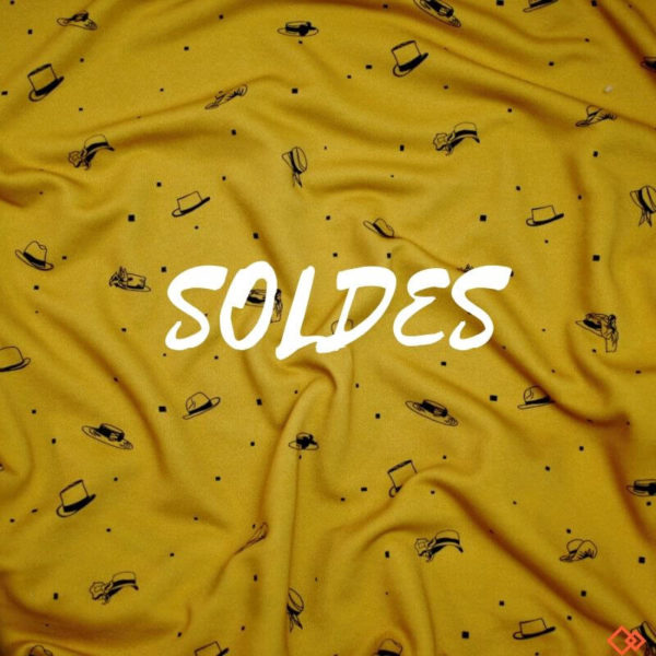 molleton bio tissu jaune