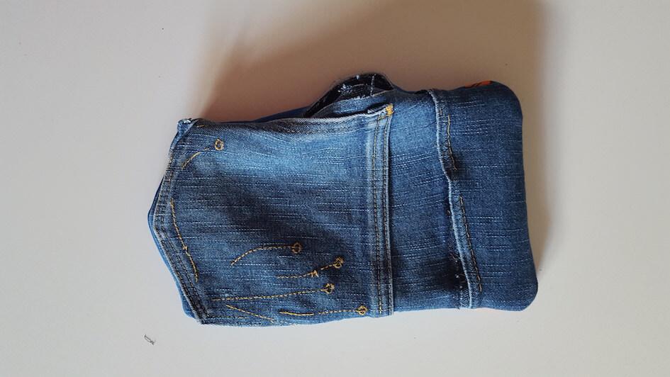 tutoriel couture manique jeans recyclage coton