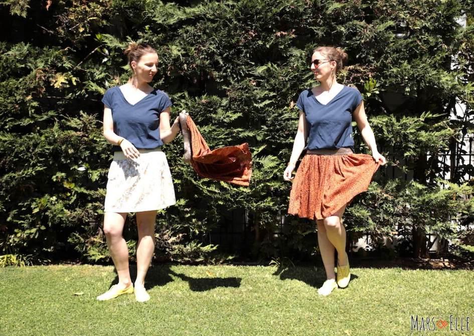 tuto couture jupe élastique facile couture débutante mars-elle tutoriel coudre débutante