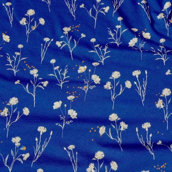 tissu jersey bio Mars-ELLE bleu foncé