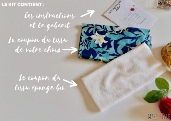 kit couture lingette démaquillante tissu bio Mars-ELLE