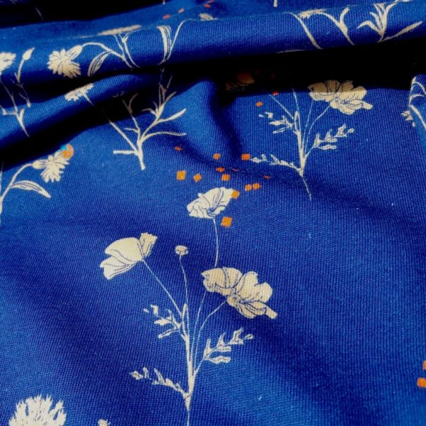 tissu bio bleu marine