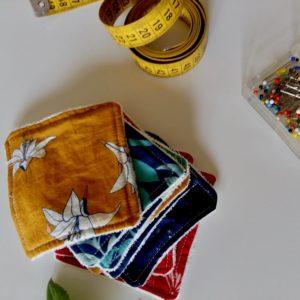 couture lingette démaquillante tissu bio Mars-ELLE
