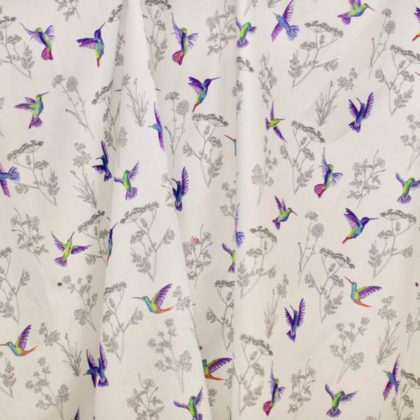 tissu bio imprimé colibri