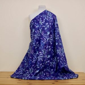 tissu bio imprimé bleu