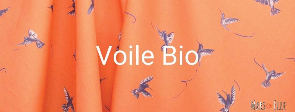 tissu bio corail motif