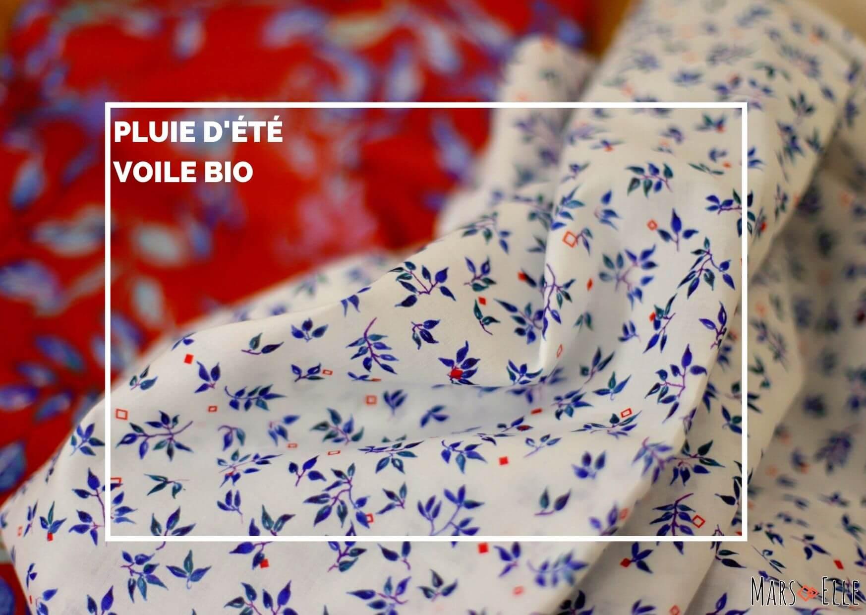 tissu bio motif voile coton biologique