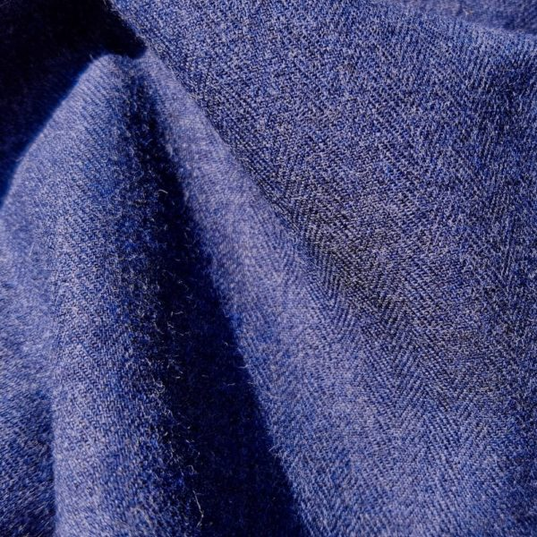 tissu bio flanelle coton bleu foncé