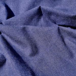 tissu bio flanelle coton bleu foncé 4