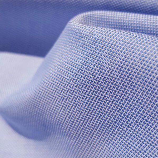 tissu bio oxford bleu clair