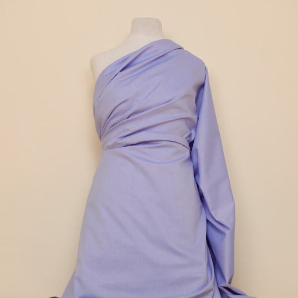 tissu bio oxford coton bleu clair
