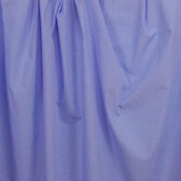 tissu bio vichy bleu clair