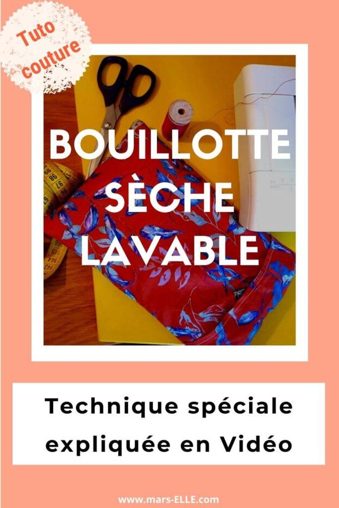 Pinterest tuto couture bouillotte sèche lavable