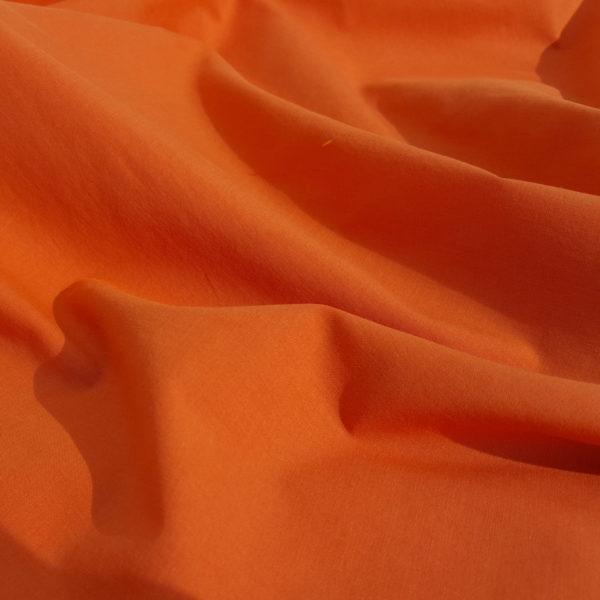 tissu bio popeline orange mars-elle