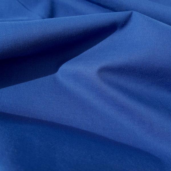 tissu bio popeline bleu cobalt mars-elle
