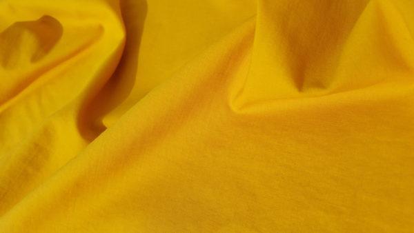 tissu bio popeline jaune mars-elle