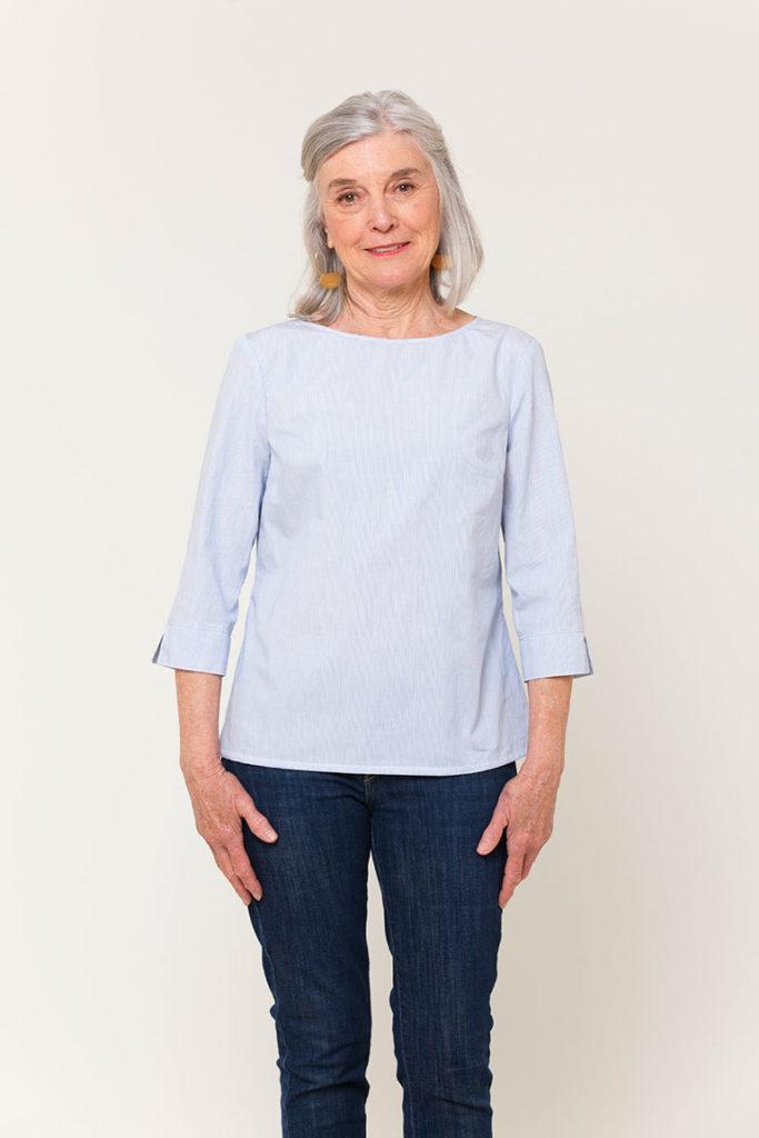 patron gratuit blouse york popeline tissu bio Mars-Elle