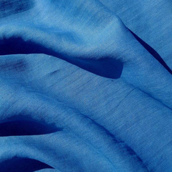 lin oeko tex bleu céruléen