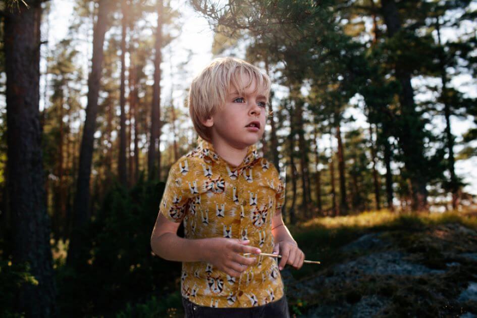 patron gratuit enfant tissu bio