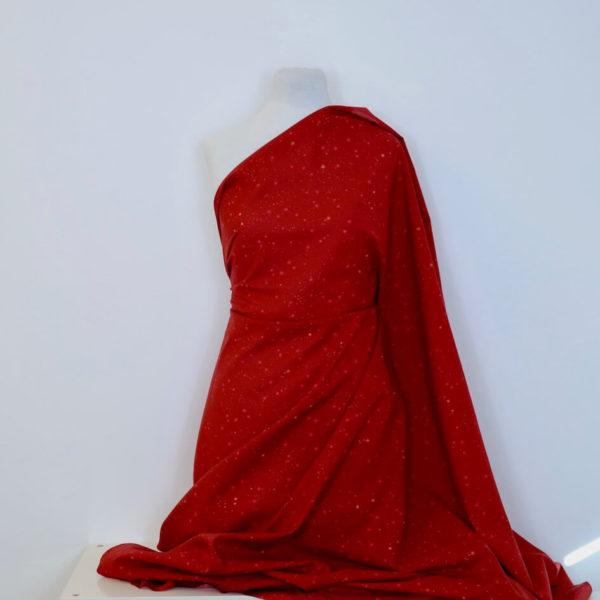 tissu bio étoile rouge