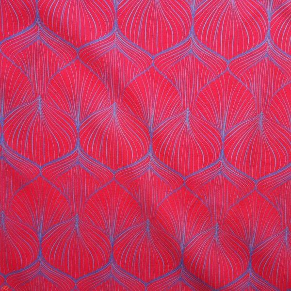 tissu bio rouge-rose