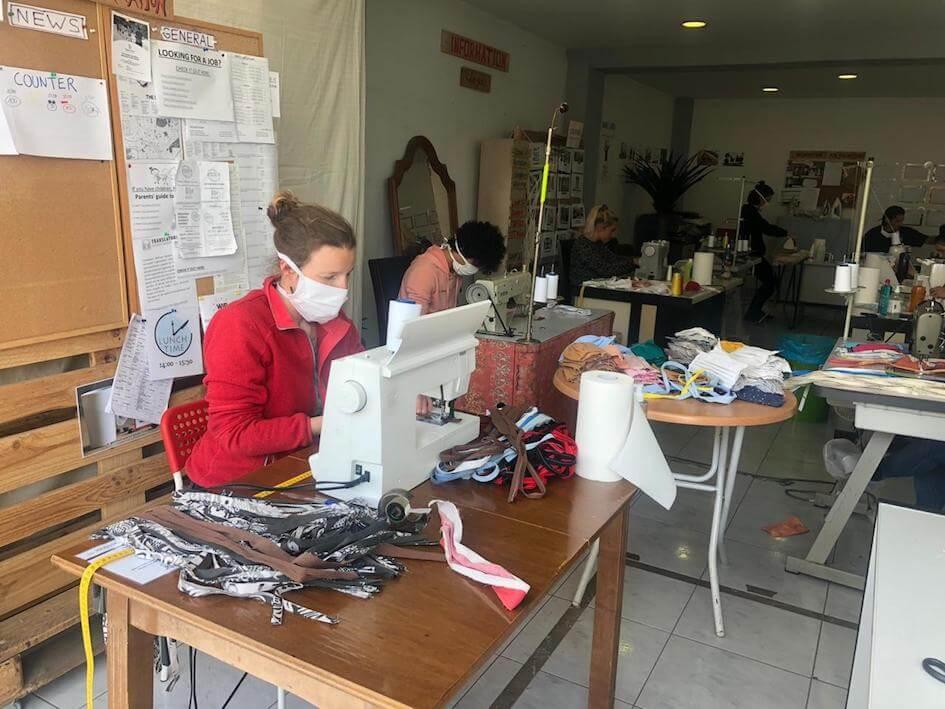 couture a la chaine masques atelier