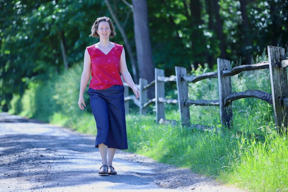 patron couture pantalon zero waste Milanavjc Mars-Elle tissu bio