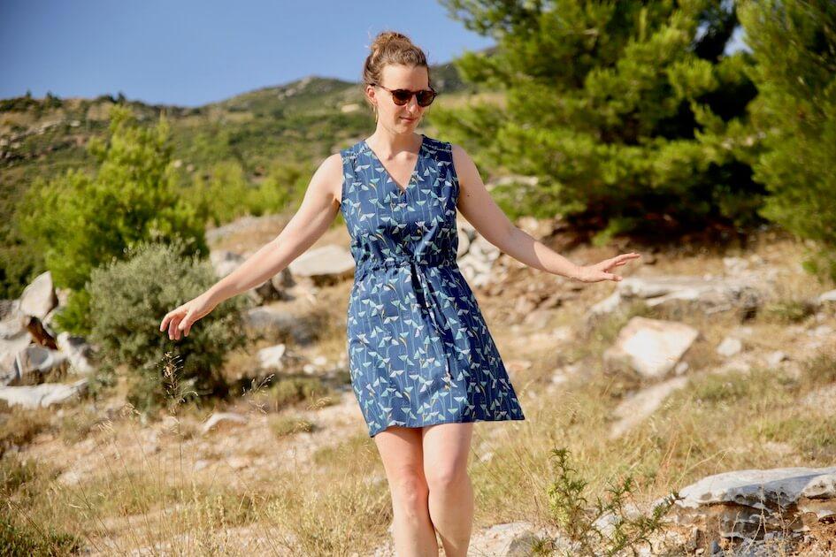 couture robe femme tissu bio popeline Mars-Elle